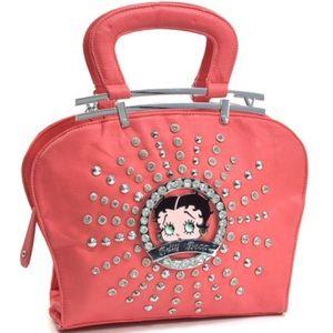Handbags - Betty Boop® Rhinestone and Studs Shoulder Bag